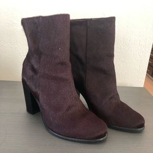 Allsaints hessian hair boots Oxblood US 8.5